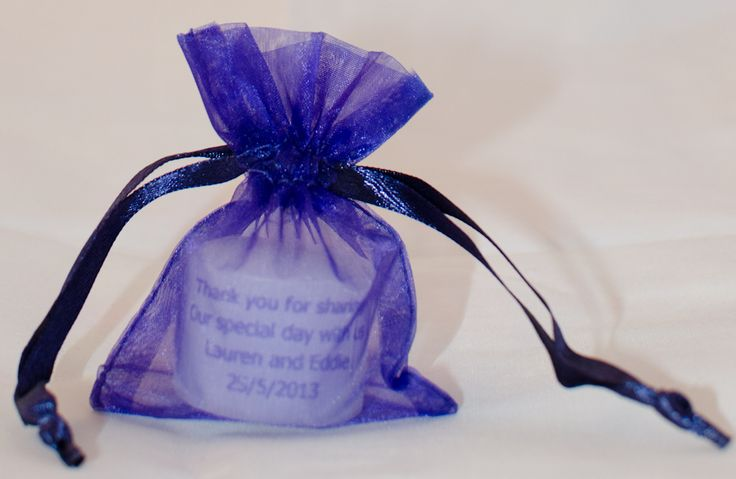 personalised candle wedding favours/ favour from peacock candles uk  purple cadburys violey gothic alternative indigo http://www.pinterest.com/peacockcandles/