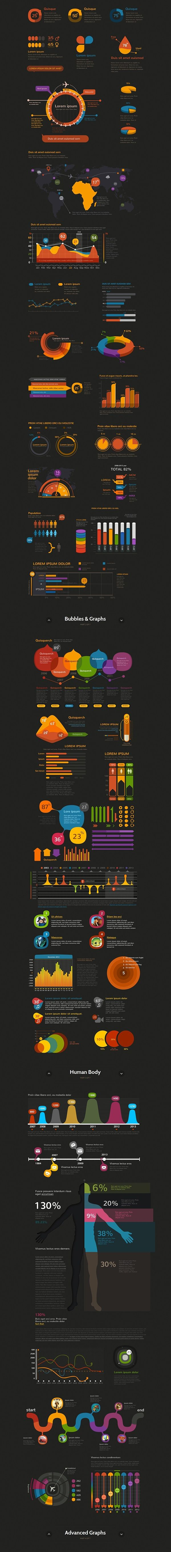 Crooked Stats Infographic Kit on Behance                                                                                                                                                                                 More