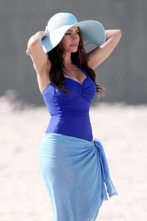 Sofia Vergara makes it onto our Celebrity Beach Bodies list, easily.