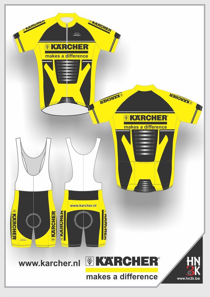 karcher  cycling shirt  cycling shin  ort   bike jersey  fietstrui fietsbroek wieleruitrusting  maillot  @hn3k.be