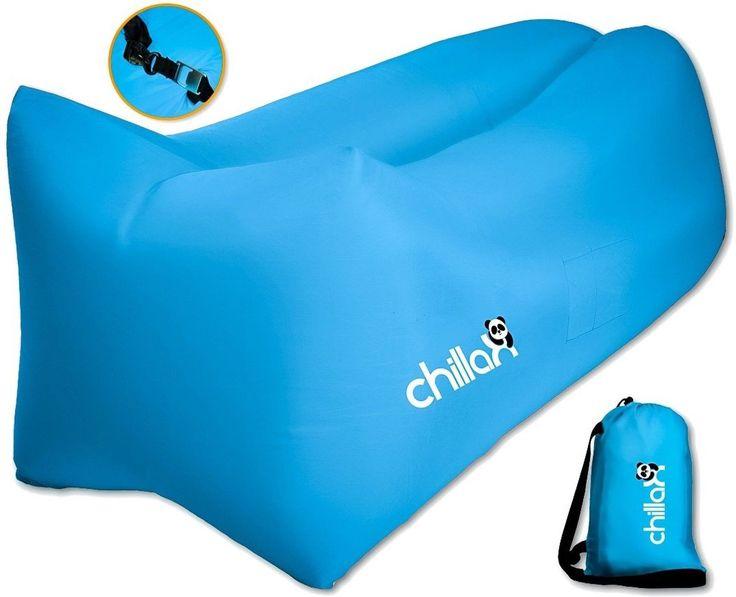 ChillaX Air Lounger - Inflatable Lounger Air Lounge Chair Beach Pool Air Bed ...