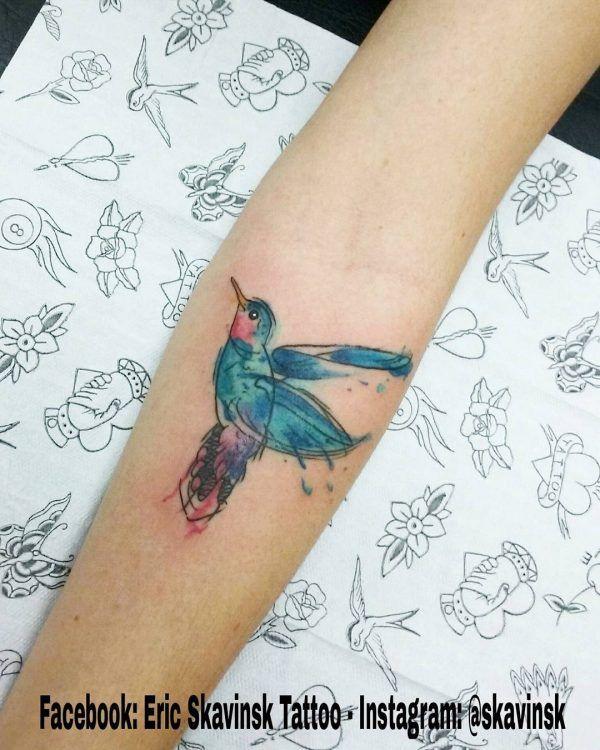Se encante com 10 tatuagens em aquarela de Eric Skavinsk