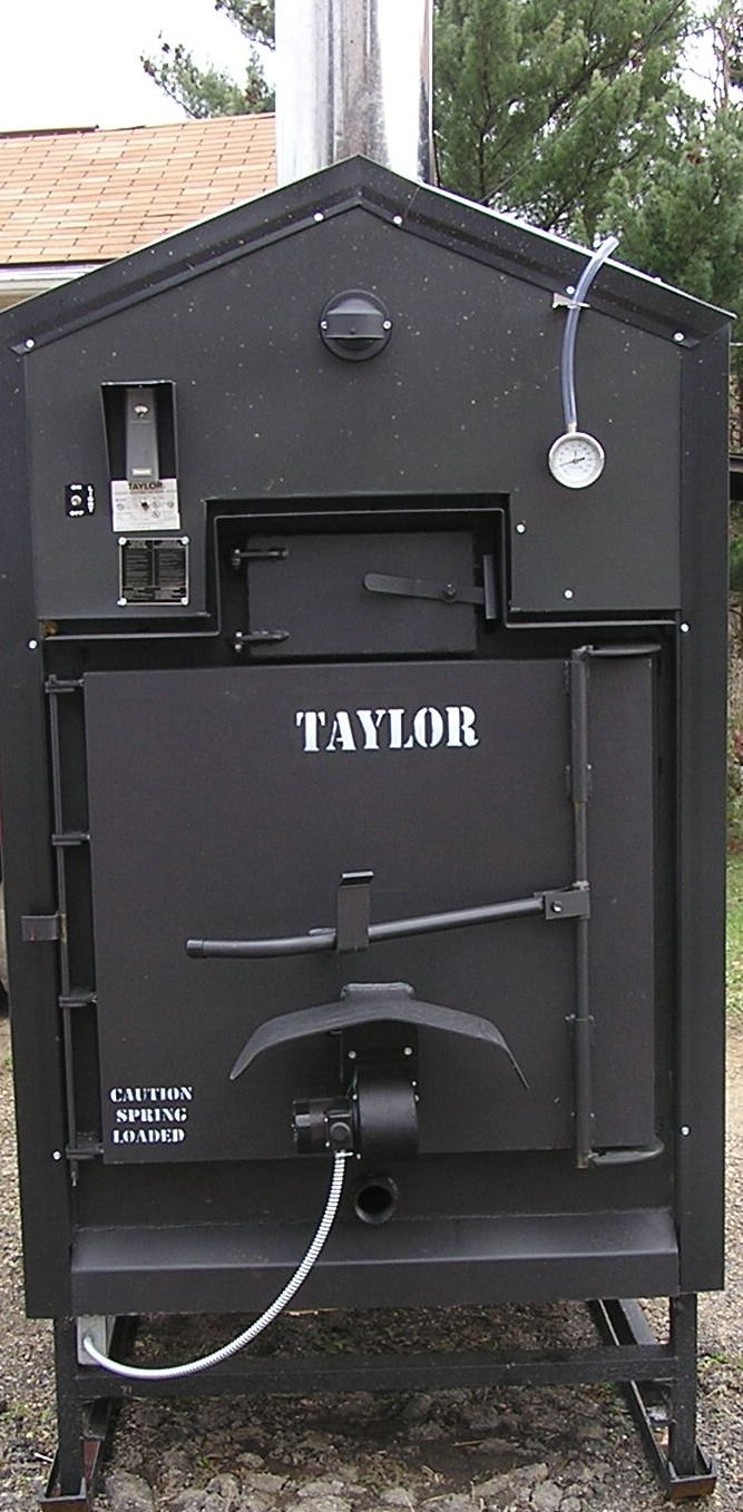 """The BEST Outdoor Wood Furnace """"Taylor Waterstove""""! This is what we have and love it!"""