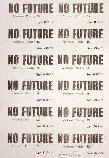 No Future Sticker Sheet by Jamie Reid (1977)