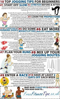 Want to get started with jogging? Then take a look at these 10 top jogging tips for beginners... | See more about jogging tips and jogging.
