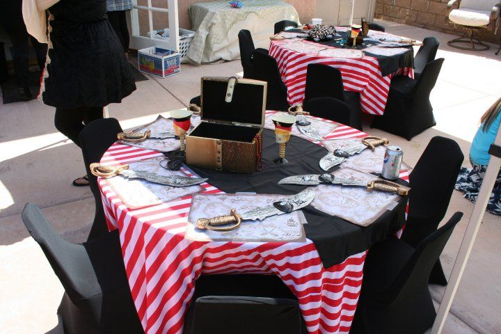 Pirate party ideas, pirate party centerpieces, pirate party decorations, pirate party rentals, pirate party tablecloths, pirate party table set up,Pirate party ideas, pirate party centerpieces, pirate party decorations, pirate party rentals, pirate party tablecloths, pirate party table set up, kids sized tables and chairs with custom chair covers and tablecloths, kids party rental, www.themesforkidspartyrental.com Orange County California