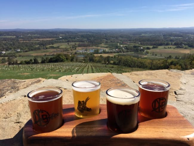Dirt Farm Brewing—tasting with a view. One of the stops on our Loudoun County Scenic Drive; just an hour from Washington DC.