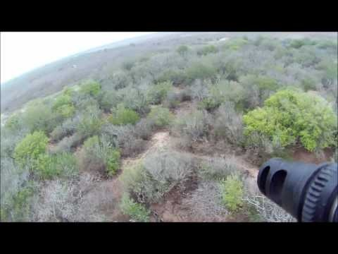 Helicopter pig hunting in South Texas with the M-16, m-249 saw