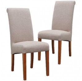 Set of 2 - Mission Upholstered Dining Chair - Stone