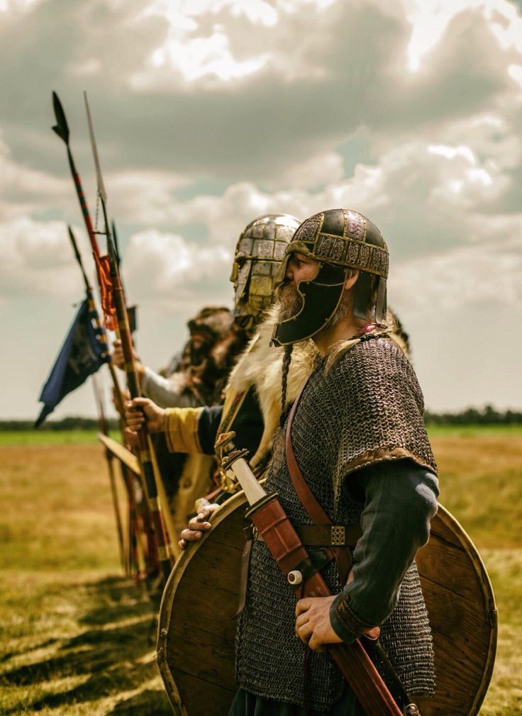 owl-of-the-rear-burghs:  iron-imperialist:  guthbrand:  From Wulfheodnas  Let me let you all in on a little secret about Anglo-Saxon reenactment… Wulfheodenas has the best kit. They just do. The one guy (just behind the man in focus) paid out of pocket for exact reproductions of everything in the Sutton Hoo ship burial, made out of the original materials. All gold, garnet, silver. He's the Sutton Hoo guy, in real life.  Dear god this is amazing.
