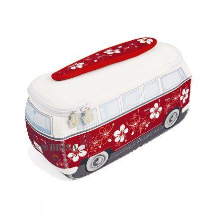 Universaltasche VW Bus 3D Neopren rot/hibiskus jetzt im design3000.de Shop kaufen! Dieser VW Bulli macht so manches Abenteuer mit! Seine praktische...