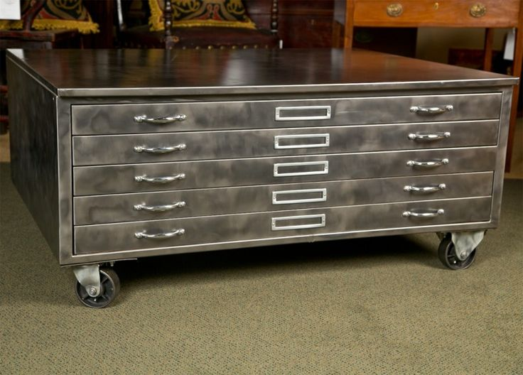 111 best furniture images on pinterest cabinet ideas flat file view this item and discover similar cabinets for sale at an industrial flat file cabinet on wheels that can be used as a coffee table malvernweather Images