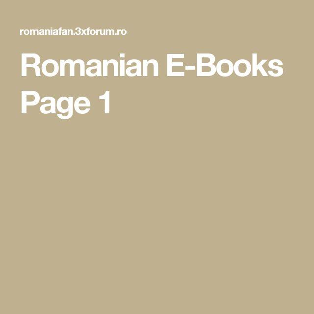 Romanian E-Books Page 1