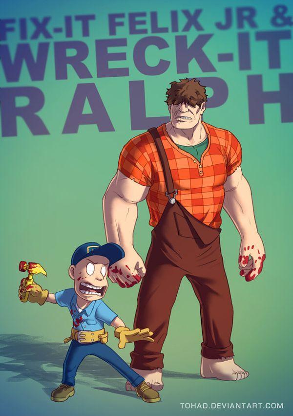 Badass Cartoon Series by Sylvain Sarrailh Wreck-it