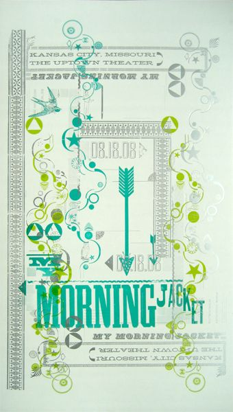 my morning jacket: Gig Posters, Letterpresses Concerts, Words Art, Music Posters, Posters Art, Bands Of Horses, Mornings Jackets, Concerts Posters, Bands Posters