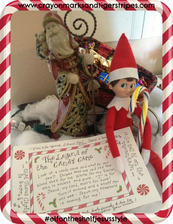 The legend of the Candy Cane and the Elf on the Shelf Jesus Style
