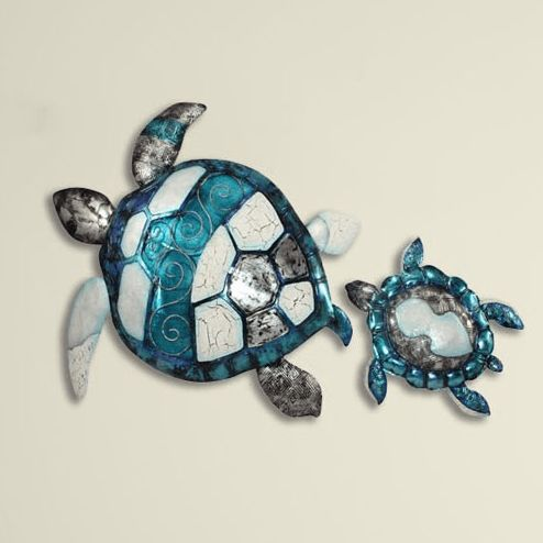 Turtle  Disc Aqua - beautiful capiz product of Darlin NZ