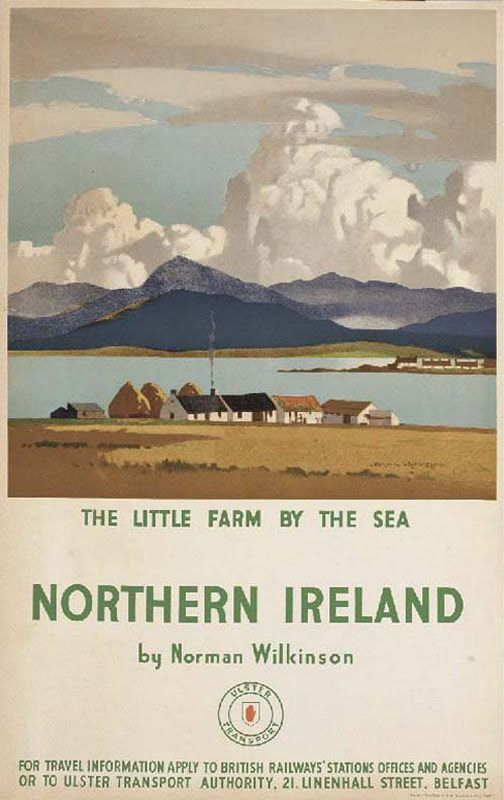 Northern Ireland, A Little Farm by the Sea, a vintage travel poster by Norman Wilkinson