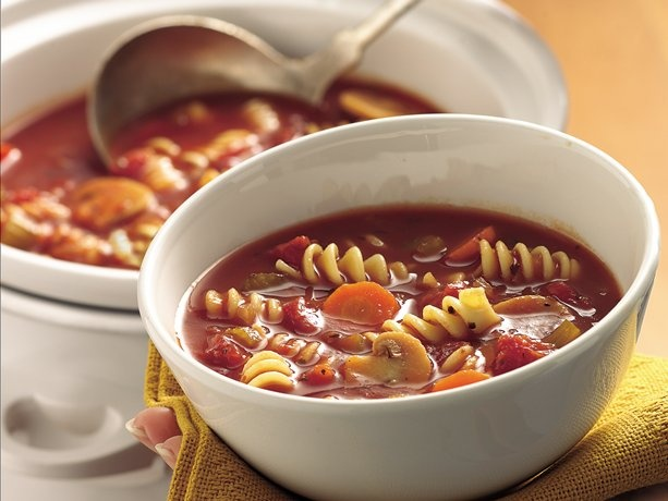 Slow Cooker Tomato Rotini Soup. Going to make this and see how it compares to the one at Subway.