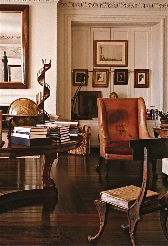 Architecture Interiors, Beautiful Home, Hotels Interiors, Interiors Design, Living Room, New York Apartments, Bill Blass, Design Home, Leather Chairs