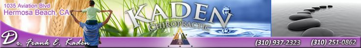 The leading health professionals at Kaden Chiropractic in Hermosa Beach, CA are dedicated to helping you achieve your wellness objectives; combining skill and expertise that spans the entire chiropractic wellness spectrum. Dr. Frank Kaden is committed to bringing you better health and a better way of life by teaching and practicing the true principles of chiropractic wellness care. Please visit www.kadenchiropractic.com