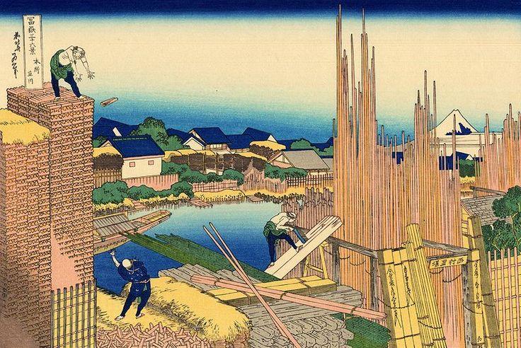 File:Honjo Tatekawa, the timberyard at Honjo.jpg