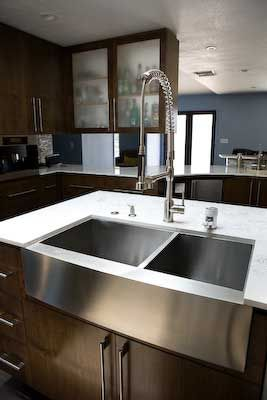 Stainless Steel Farmhouse Sink   Modern   Kitchen Sinks   Los Angeles   By  Lavello Sinks  Hmmm Easier To Keep Clean Than Typical Ceramic Farmhouse  Sink?