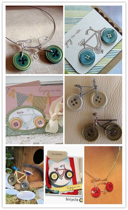 Cute Button Bicycle Accessories Craft Ideas 1
