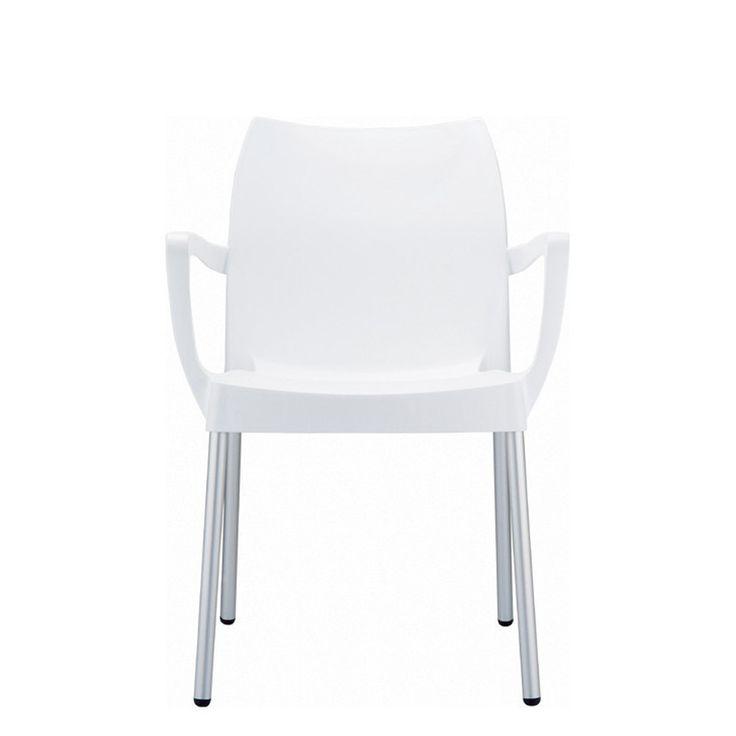€ 63,00 LAMPONE-B #sconto 50% #sedia #outdoor con poggiabraccia, gambe in alluminio, seduta in polipropilene di colore #bianco. Adatta ad #arredare il #giardino, il #terrazzo o l'esterno di una #caffetteria. Leggera e #impilabile, in #offerta prezzo su #chairsoutlet factory #store #arredamento. Comprala adesso su www.chairsoutlet.com