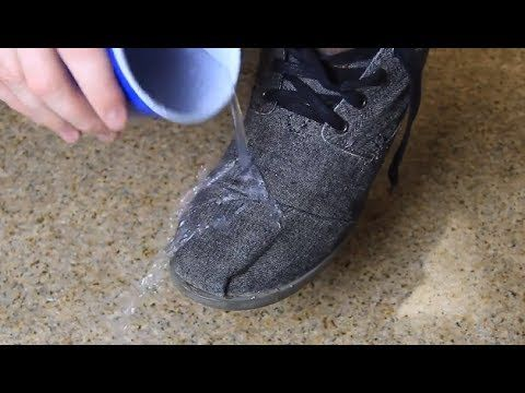 ▶ How to Make Your Shoes Waterproof - YouTube - using a candle and blow dryer (could use beeswax too)