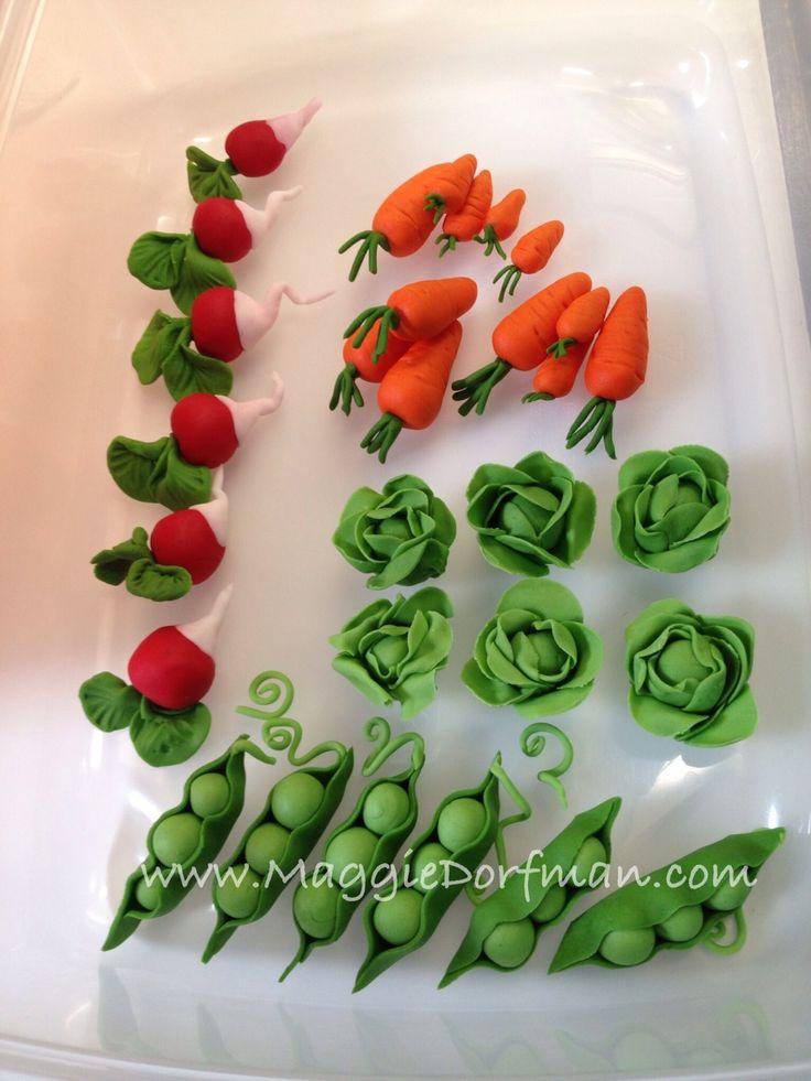 Snow peas carrots fondant