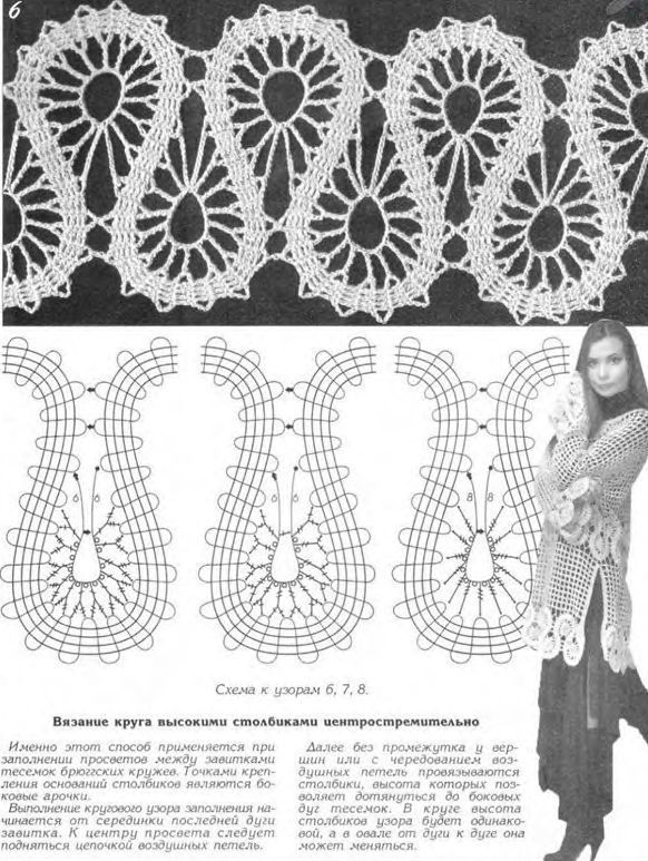 150 best Crochê images on Pinterest | Needle lace, Bobbin lace and ...