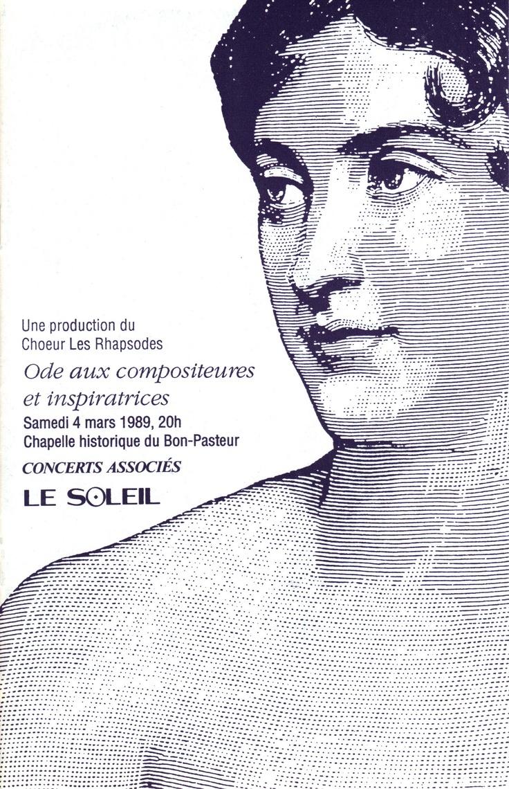 Mars 1989  Ode aux compositrices et inspiratrices  Les Rhapsodes