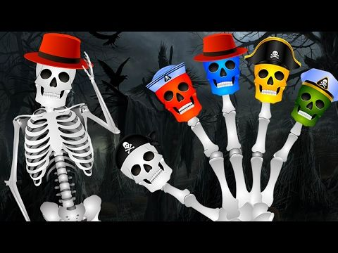 Skeleton And Dinosaurs Finger Family | Kids Nursery Rhymes | Dinosaur Colors Learning Song - YouTube