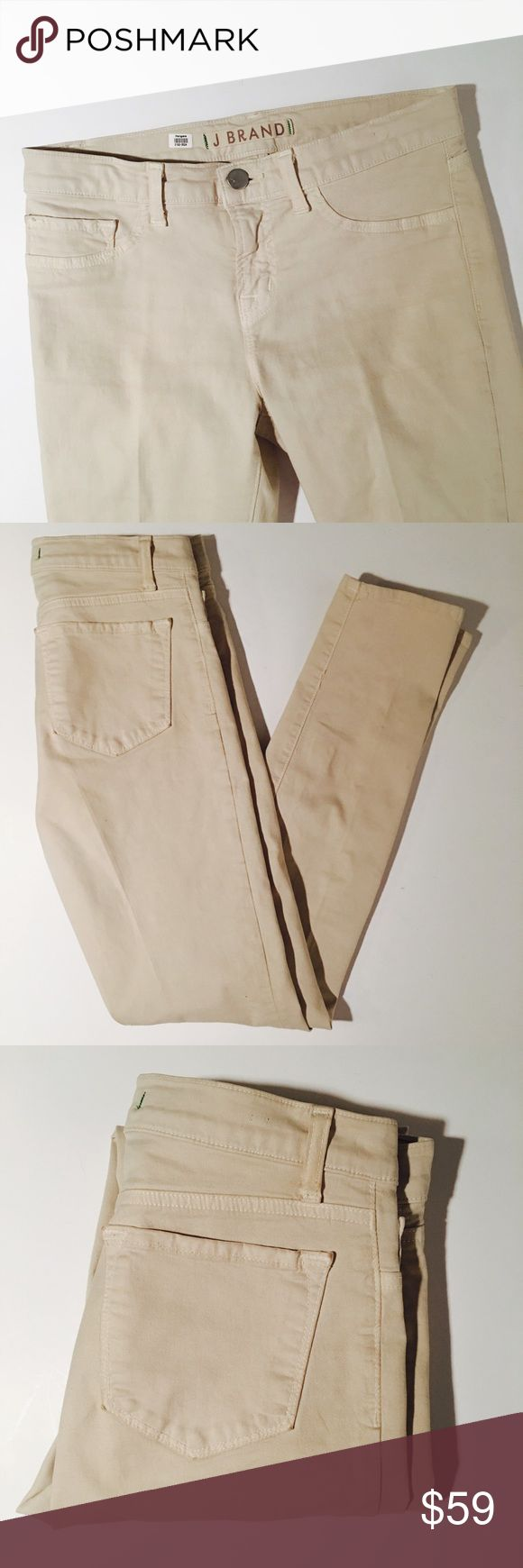 J Brand Tan Skinny Jeans Size 26 J Brand Tan Skinny Jeans. 29 inch inseam. Perfect condition without flaws.   All items come from a smoke free home and are shipped on the same or following day an order is placed.   Reasonable offers are considered and often accepted. Deals on bundles are also available.   Items are shipped in polymailers placed INSIDE boxes to ensure all purchases are completely protected from damage or weather conditions. J Brand Jeans Skinny