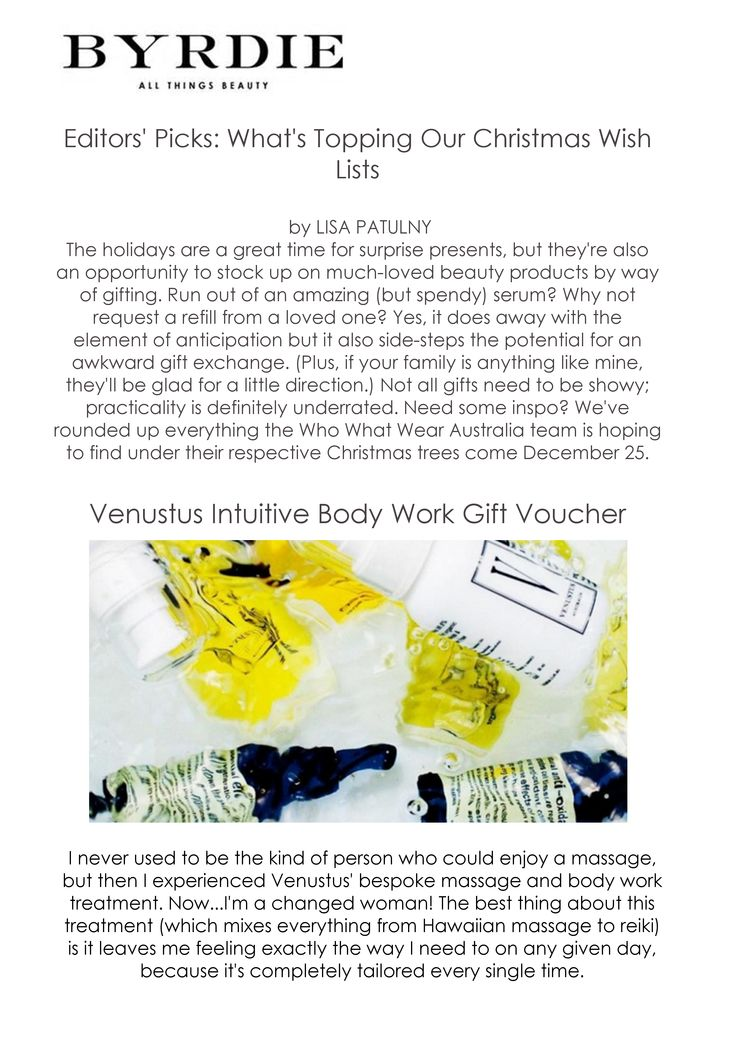 Great review from Byrdie Beauty  #treatments #beauty #gift #christmas #spa #voucher #ideas #luxury #organic #ethical