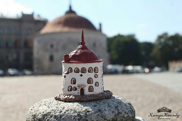 Архитектурная копия Керамический подсвечник Круглая Башня