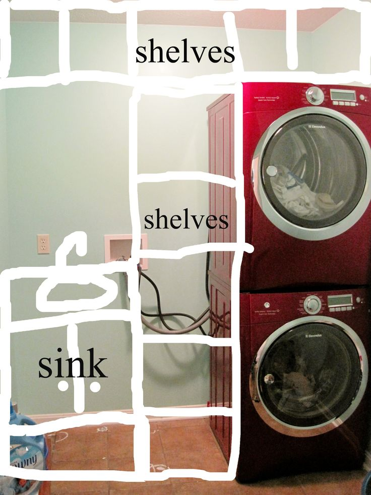 elfa laundry room with stacked washer and dryer - Google Search