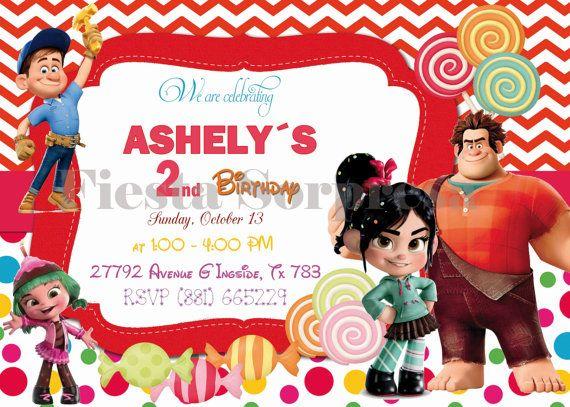Disney wreck it ralph Invitation Vanellope by FiestaSorpresa, $12.00