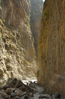 10 Spectacular Greece Tourist Attractions:The Samaria Gorge is a 16 km (10 miles) long canyon in southwest Crete. Walking the Samariá Gorge is extremely popular and more than a quarter million tourists do so each year. It will be great experiences in your life. The walk takes 4 to 7 hours and passes through forests of ancient cypresses and pines, then cuts between vertical cliffs through the mountains to emerge at Agia Roumeli on the Libyan sea.