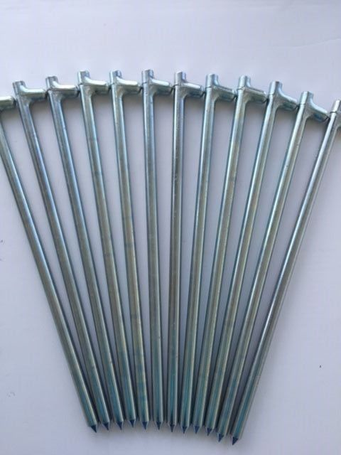 12 pack of 5/8  x18  long zinc metal tent stakesanchorspegsspikes 62518HZC12 #MonkIndustries & 12 pack of 5/8