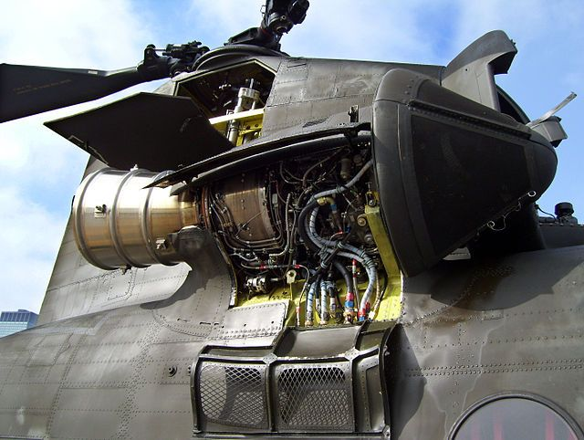 Lycoming T55-GA-714A turboshaft engine on a Boeing CH-47 Chinook