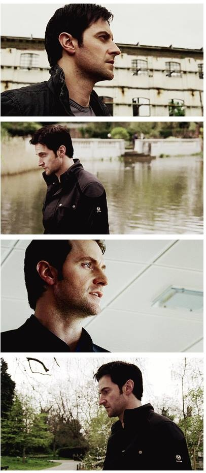 Easy enough to gaze upon perfection from the front, but the profile is easy-peasy on the eyes. Richard Armitage as Lucas North.