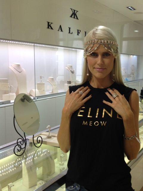 It was lovely to have dj @Georgia Sinclair drop by #kalfinjewellery #diamonds #diamondrings #stunninggirl #beautiful #diamondjewellery #jewellers #custommade #designerjewellery #jewellery #djgeorgiasinclair #cbdjewellers #Melbourne #fashion #blogger #styleblogger #bestday #picoftheday #follow #custommadejewelery #celebraties #luxury