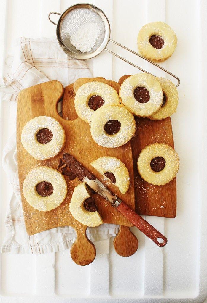 Nutella Filled Linzer Cookies | Sugar et al