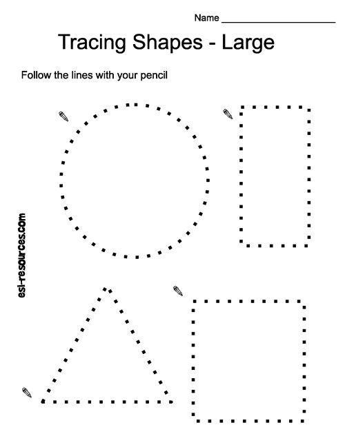 Tracing shapes - free