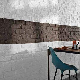 plaquettes de parement brick white - 12,90 le m2 chez castorama