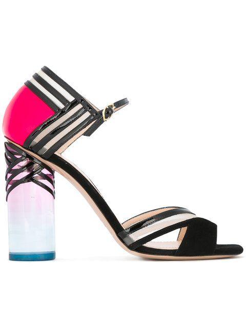 Shop Nicholas Kirkwood 105mm 'Zaha' closed-back sandals.