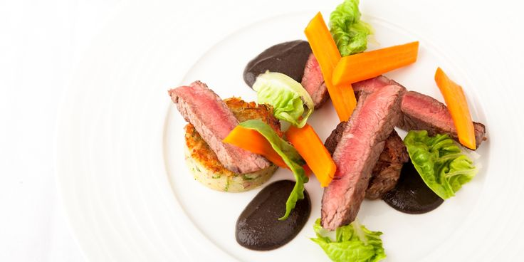 This sumptuous Aberdeen Angus beef steak recipe comes from acclaimed chef Kevin Mangeolles, pairing the steak with beef tea and a rich mushroom purée