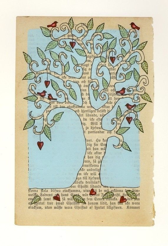 Love Tree 2 - carambatack on etsy- a study in positive and negative space